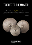 New Tony Williams Tribute Cymbals. Pre-order Special!