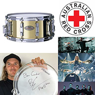 Ben Gordon signed Pearl Snare Drum auction for Red Cross